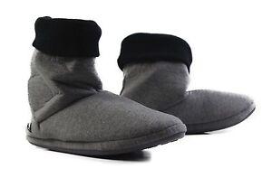 Mens-Grosby-Hoodies-BOOTS-Charcoal-Grey-Black-Slippers-Slipper-Size-S-M-L-XL
