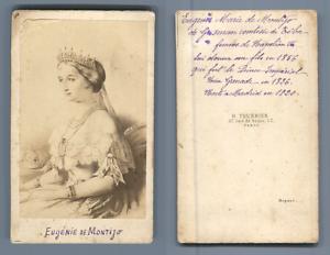 Imperatrice-Eugenie-vintage-CDV-albumen-carte-de-visite-CDV-tirage-albumine