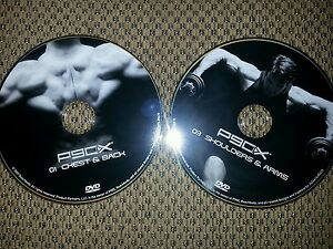 Details about 2 - P90X DVDs #1 Chest and Back AND #3 Shoulders and Arms  FREE SHIPPING!!!