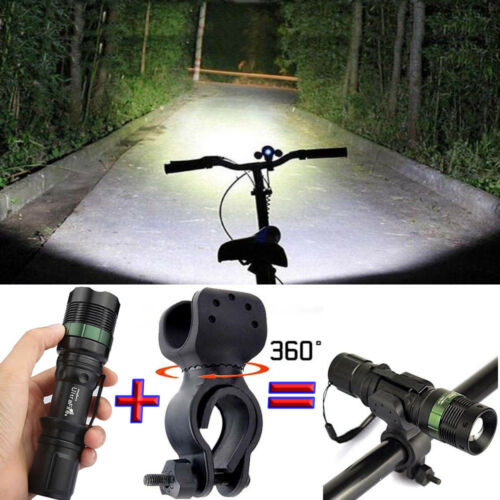 Flashlight 50000LM T6LED Bicycle Bike Lamp Laser 18650 Torch Light Mount Holder*