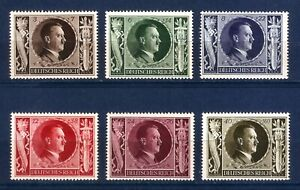 DR-Nazi-3rd-Reich-Rare-WWII-WW2-Stamp-Hitler-Head-Swastika-Eagle-Birthday-Sword