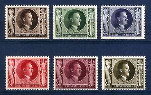 DR-Nazi-3rd-Reich-Rare-WWII-WW2-Stamp-Hitler-Head-Swastika-Eagle-Birthday-Sword