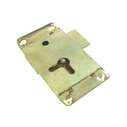 Dzina Wardrobe Lock 50mmx25mm Electrobrassed with Key Pack of 1