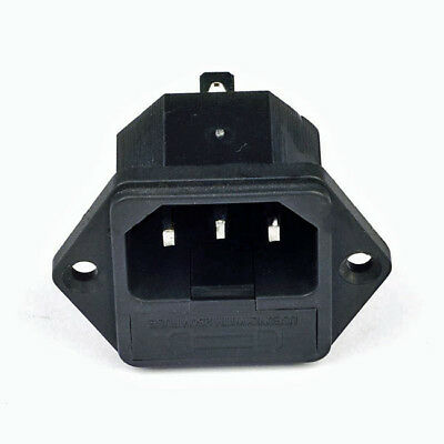 One AC Power IEC Standard C-14 Inlet Connector Flange Mount   3PAC