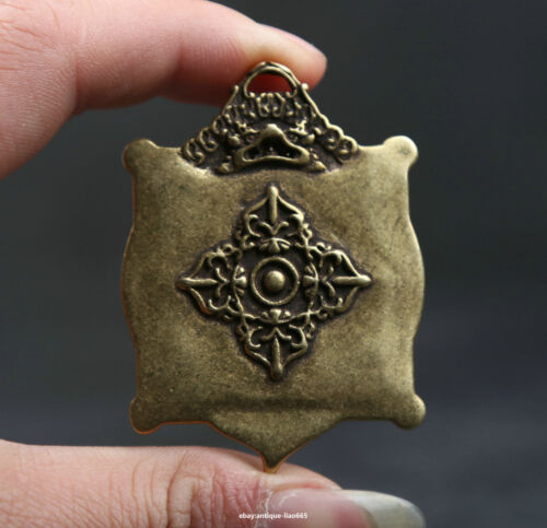 56MM Small Curio Chinese Fengshui Bronze Lovable 12 Zodiac Animal Wealth Pendant