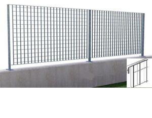 pannello grigliato per recinzione acciaio zincato cm h 172x2 mt sezione 25x2 mm