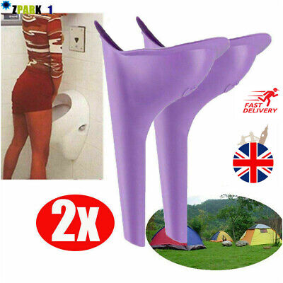 2x Portable Camping Female She Urinal Funnel Ladies Urine Wee Loo Travel Easy UK