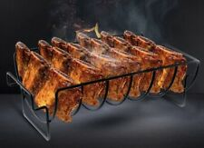 Chicken Duck Holder Rack Grill Stand Roasting For BBQ Rib Non Stick Carbon MR