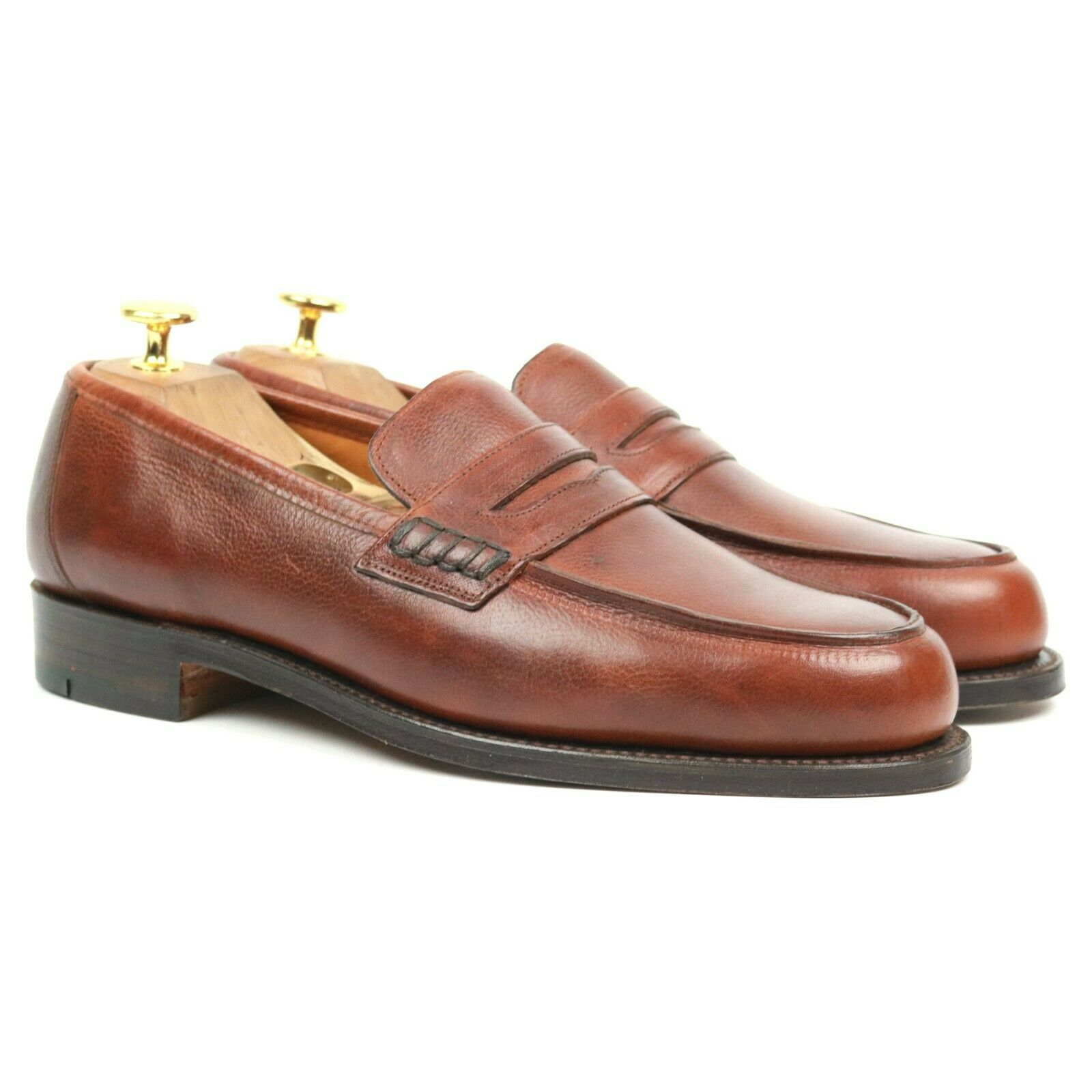 Grenson Brown Leather Loafers Men's shoes UK 8