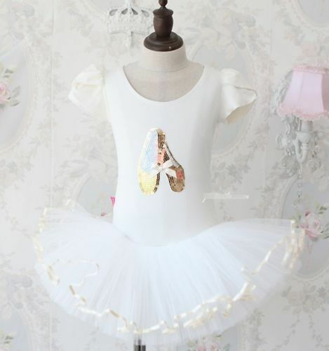 Girl Dancing Shoes Leotard Ballet Tutu Dress Size 3 to 10 years