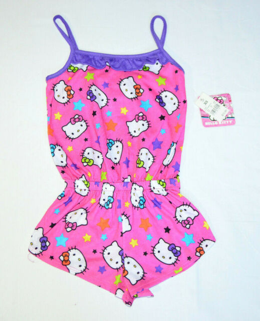 Hello Kitty Girls Shorts Romper with Stripes