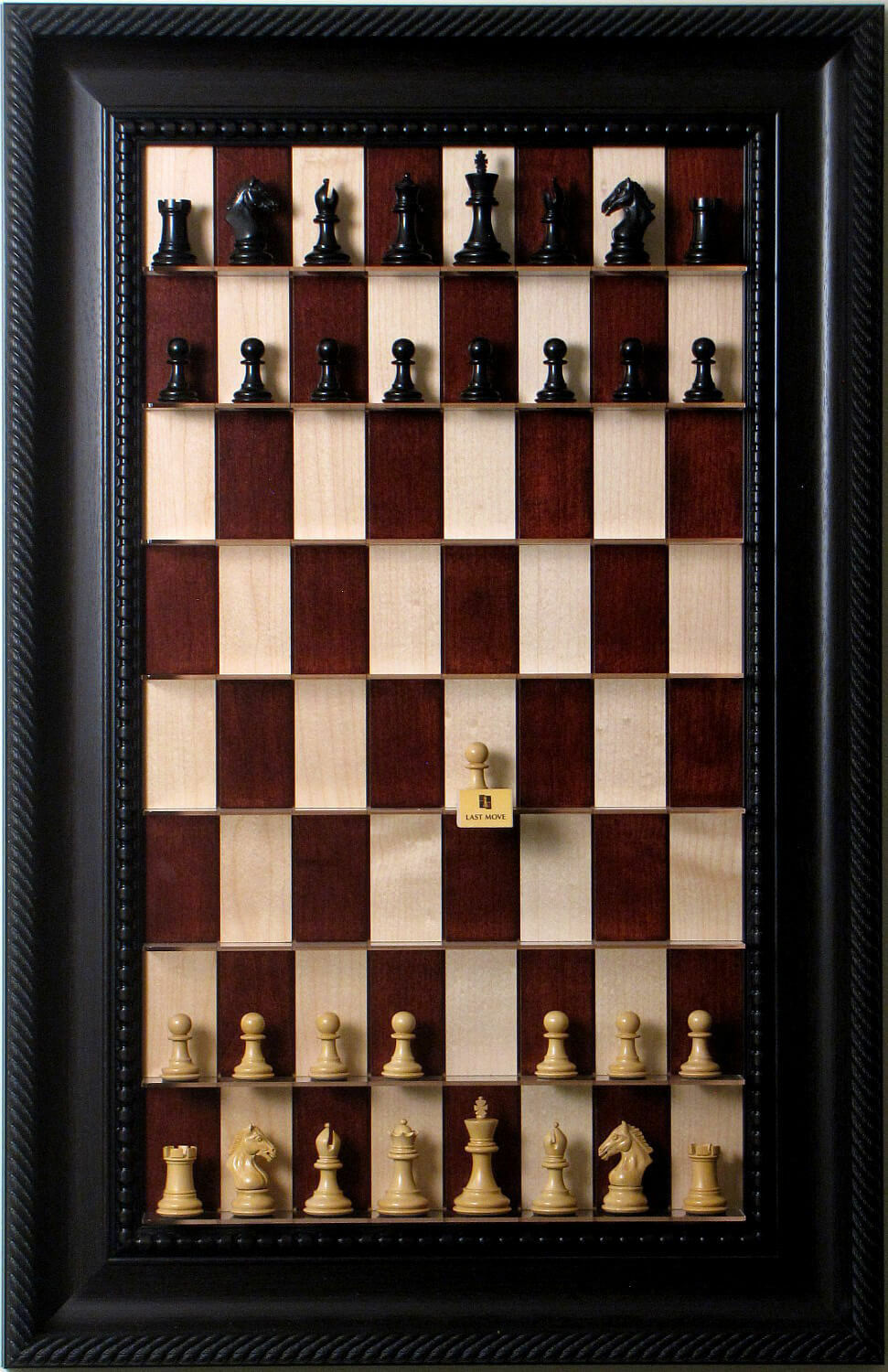 Straight Up Chess Board - rosso Maple  Series with Marronee Traditional Frame