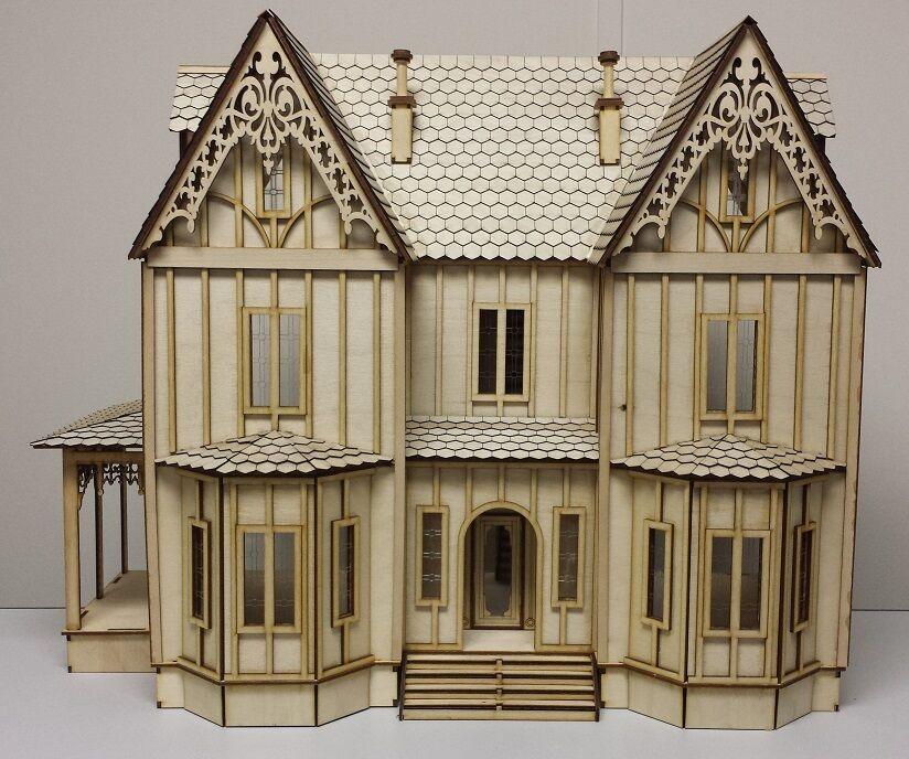 Kristiana Tudor 1:24 scale dollhouse Kit WITHOUT SHINGLES