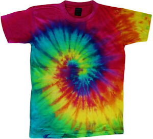 Colorful T Shirt Designs | Spiral Design Tie Dye T Shirt Colorful Swirl Tie Dye Tee Men S Tie