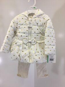 LITTLE-ME-BABY-GIRL-3-PIECE-JACKET-SET-LEGGING-PANT-JACKET-GOLD-WHITE-18M-NWT