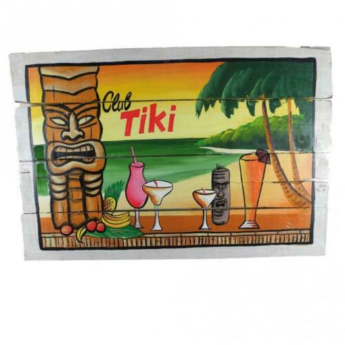 Holzschild Tiki Bar Südsee Maori 60x40cm Rockabilly handgemalt