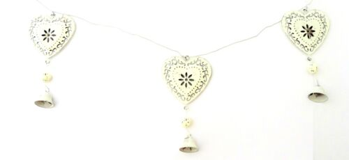 Sass and Belle Shabby Chic Metal Heart Garland