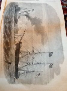 J1-8-Ephemera-1863-Picture-Folded-George-Griswold-Resolute-Royal-Navy-In-Mersey