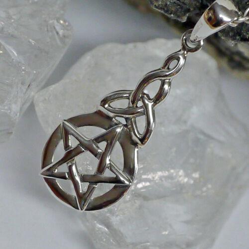 925 Silber Schutzamulett Triquetra Peter Stone Pentagramm Pentakel Anhänger kl