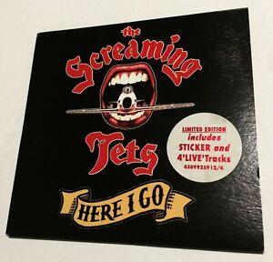 THE-SCREAMING-JETS-Here-I-Go-CD-EP-1993-oz-rock-Live-UK-trks-LTD-STICKER-RARE