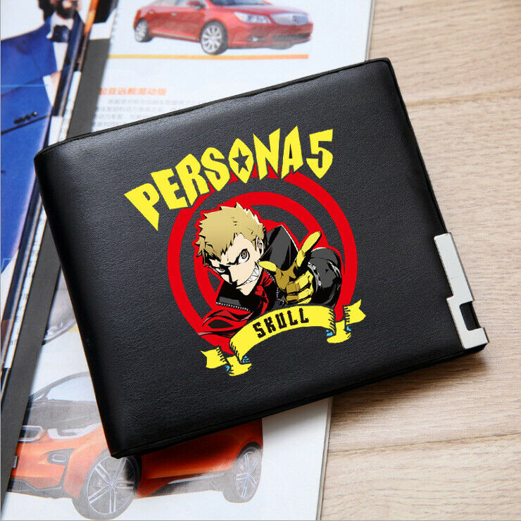 Japanese Anime Persona 5 Cosplay Personalized Short Wallet Student Purse #D02