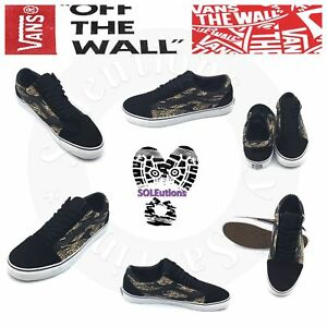 f53cafcc4f Image is loading VANS-Old-Skool-Suede-Tiger-Camo-Black-Sneaker-