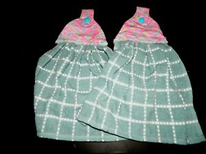 Details About New Pink Blue Green Hanging Kitchen Fridge Hand Towel Snap Closure