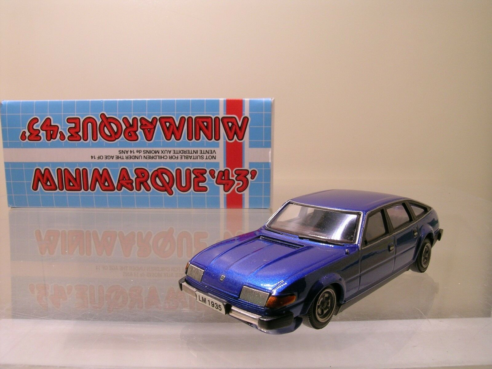 MINIMARQUE43 UK ROVER SD1 3500 V8 Blau Weiß-METAL FACTORY HANDB. BOXED 1 43