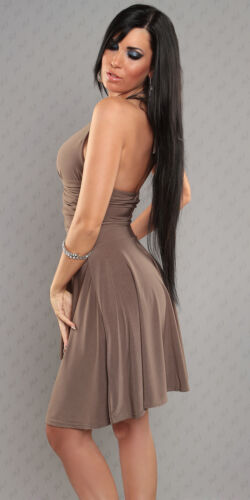 Ladies Mullet Dance Mini Dress Party Cocktail Strapless Backless Rhinestone