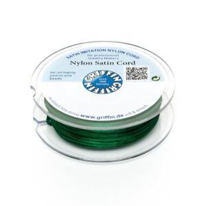 Nylon-Satin-Band-1mm-gruen-5m-Spule-Makrameeband-Schmuckkordel-Nylonschnur