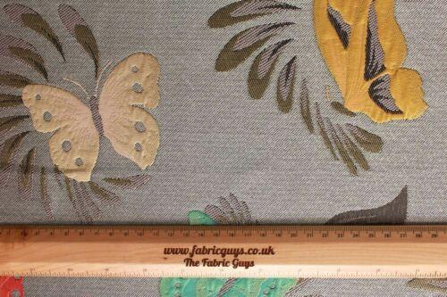 "Butterfly Floral 58/"" Jackets /& Waistcoats Metallic Gold Foil Brocade Fabric"