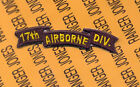 US ARMY 17th AIRBORNE Division arc tab scroll patch