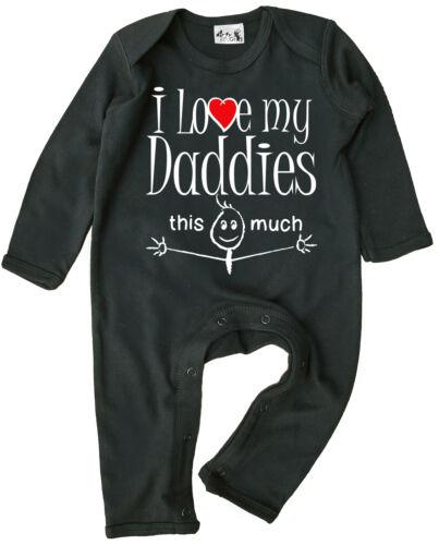 "LGBT Baby Romper /""I Love My Daddies This Much/"" Boy Girl Gift Clothing Gay Pride"