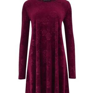 231d0513c7151 Capsule Velour Swing Dress Berry UK Size 16 TD094 CC 10 | eBay