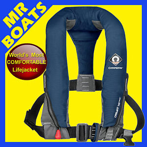 CREWSAVER-SPORT-INFLATABLE-LIFEJACKET-Extremely-Comfortable-NAVY-BLUE-MANUAL