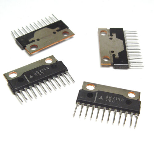 4x Stereo-Verstärker IC 2x 2.1 Watt, AN7148 / AN 7148, Dual Audio Amplifier, NOS