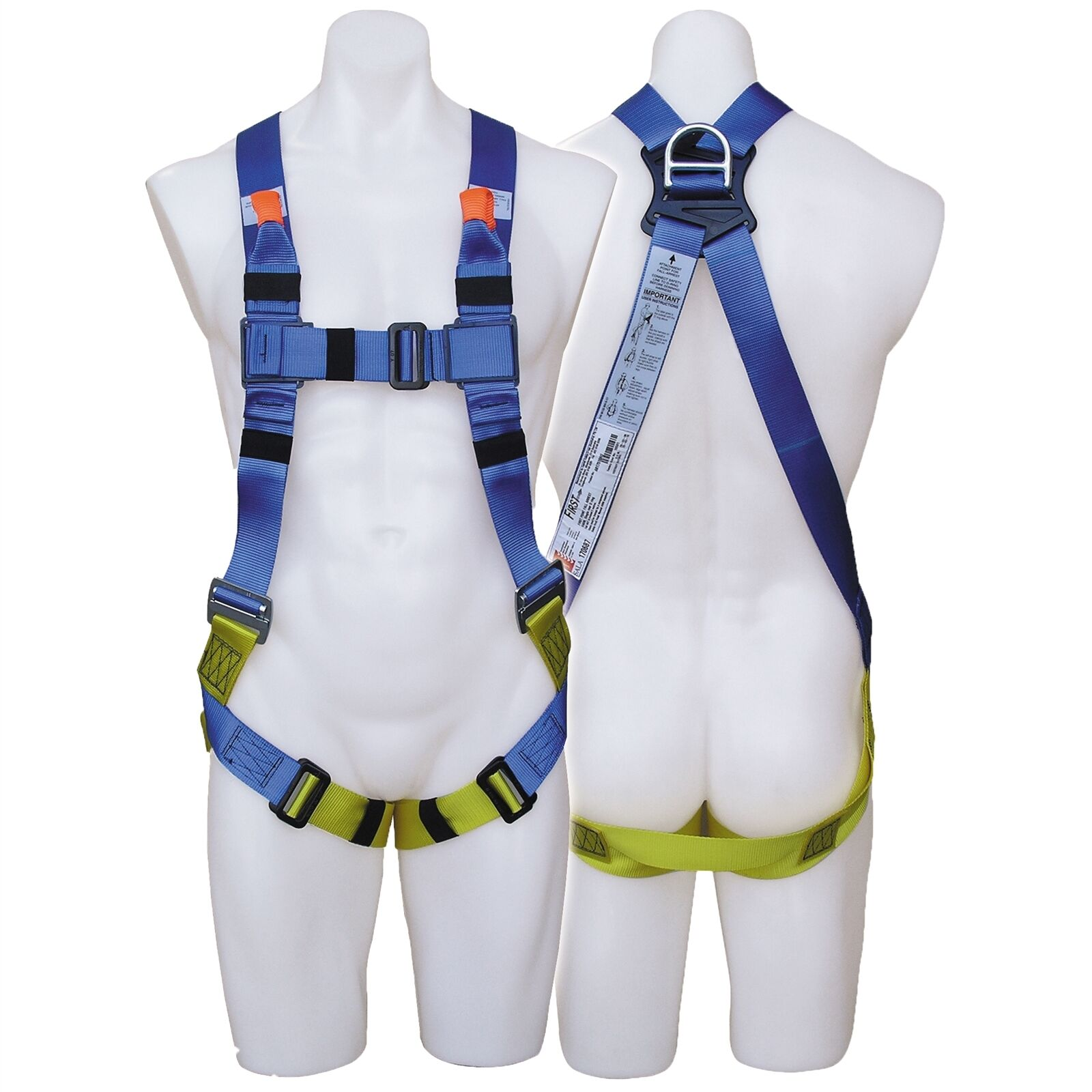 First FALL PROTECTION HARNESS Adjustable, Frontal & Rear Arrest For Industry Use