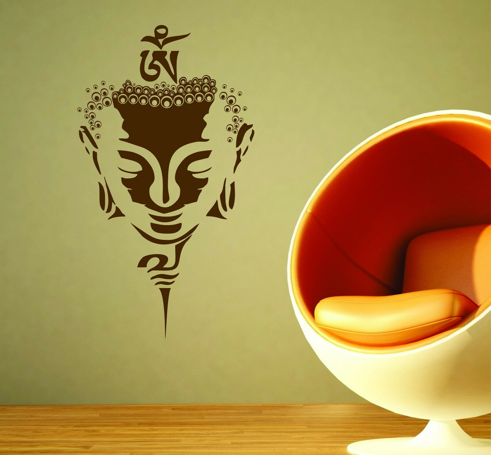 Buddha Mask Gautama Shakyamuni Decorative Vinyl Wall Sticker Decal ...