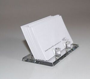 Image Is Loading Mirror Acrylic Business Card Holder Display