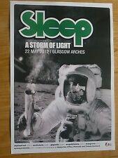 Sleep + A Storm Of Light - Glasgow 2012 tour concert gig poster