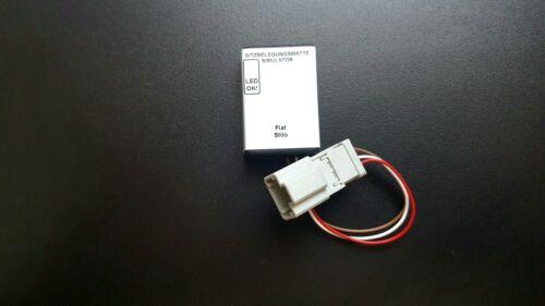 SRS airbag passenger seat occupancy bypass mat sensor emulador Fiat Stilo