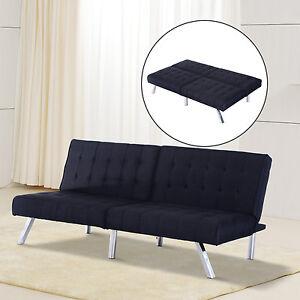 HOM Splitback Futon Home Sofa Sleeper Bed Modern Convertible Mattress Couch