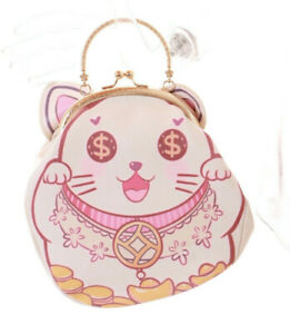 LB-165-Blanc-Japon-Fortune-Lucky-Chat-Chat-Epaule-Sac-a-Manche-Kawaii