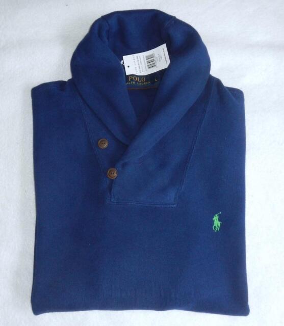 Polo Ralph Lauren Shawl Collar Sueded Ribbed Sweatshirt - BNWT - Large