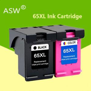 2 Cartuchos De Tinta Impresora Hp 65 Xl Negro Tri Color Hp Envy 5010 5020 5030 5032 Ebay