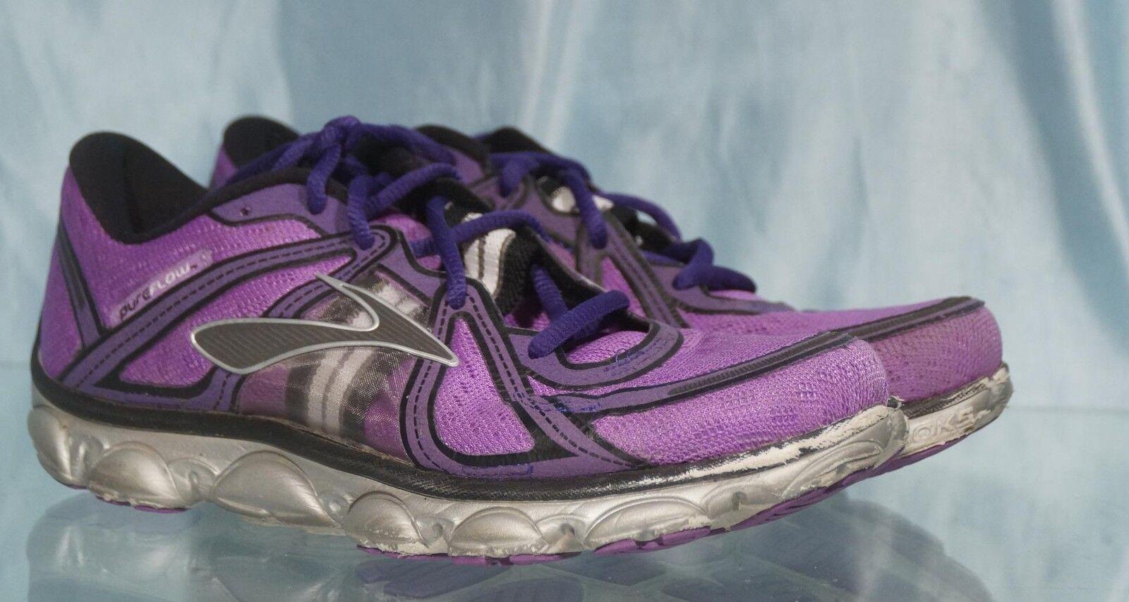Nice Purple Grey Black BROOKS PURE FLOW Running shoes US Sz 7.5 UK 5.5 EUR 38.5