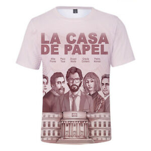 Money Heist The House of Paper Print Tshirts Animal La Casa De Papel men