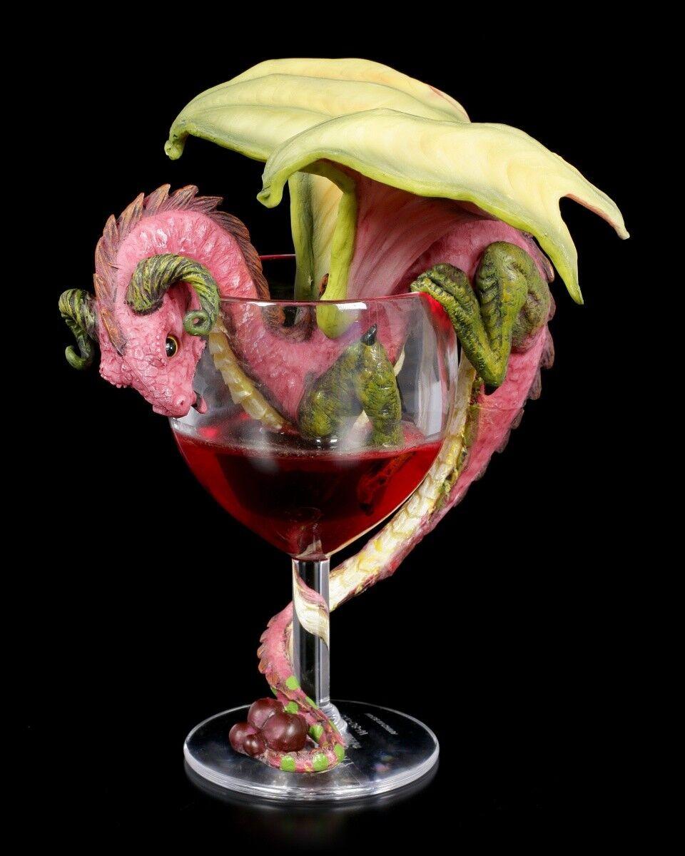 Dragon Figure in Red Wine Glass - Red Wine - Stanley Morrison Dragon Weindrache