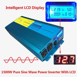 PURE-SINE-WAVE-1500W-MAX-3000W-12V-240V-POWER-INVERTER-CAR-CARAVAN-CAMPING-BOAT