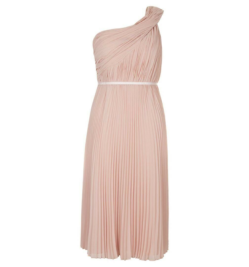 Hobbs Andrea Dress, Dusty Peach Rosa, Brand New With Tags